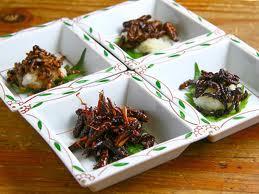 Insectes grillés en apéritifs
